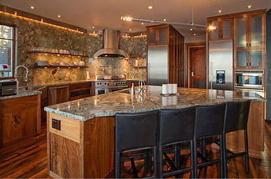 Luxory Chalet Kitchen